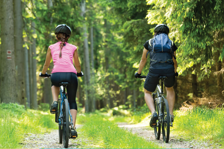Enjoy the bike trails article