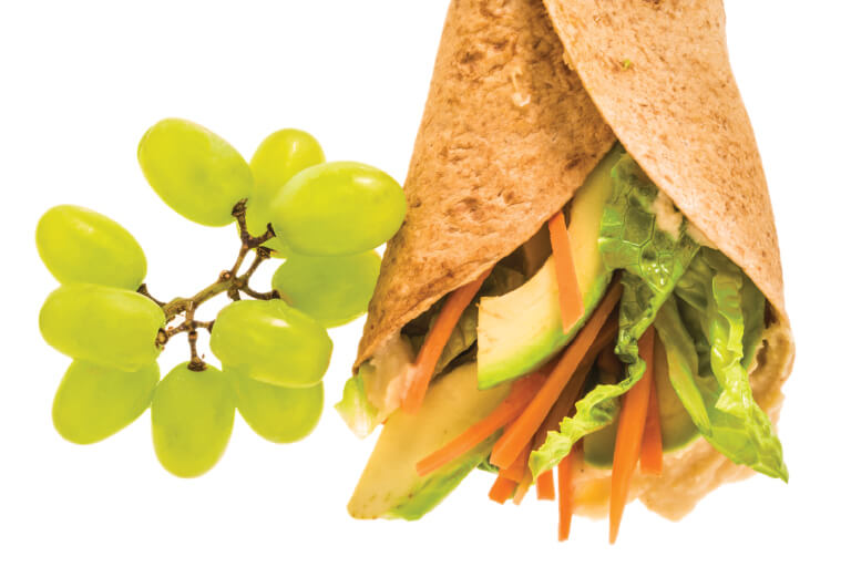 Nut-Free Hummus Veggie Wraps Recipe