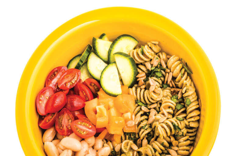 Spinach Pesto Pasta Salad Recipe