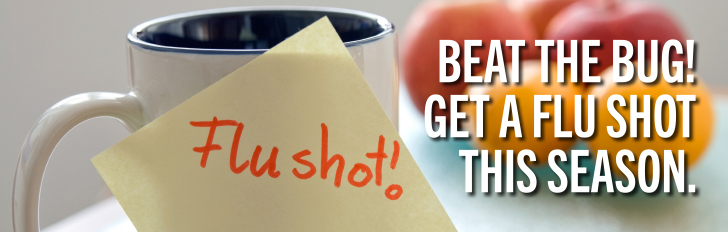 Beat the bug, get a flu shot.
